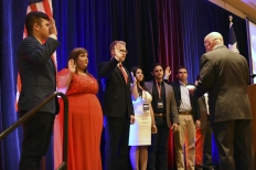 Congressman Brady swearing in our new state officers