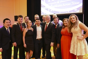 RPT Chairman James Dickey with the Hill Country Young Republicans