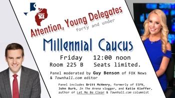 Millennial Caucus flyer